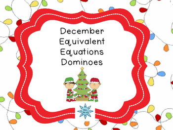 December Equivalent Equations Dominoes