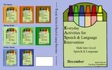 December Everyday Activities for Speech & Language Intervention (EASI) Book