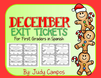 December Exit Slips *In Spanish* *FIRST GRADE*