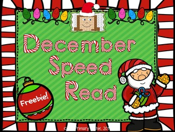 December FREEBIE Dolch Speed Read