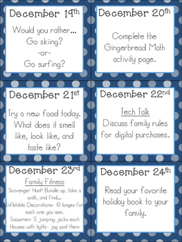 December Family Chit Chat Cards