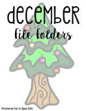December File Folder Games for Preschool, Pre-K and Special Needs