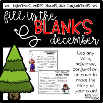 December Fill in the Blank Stories