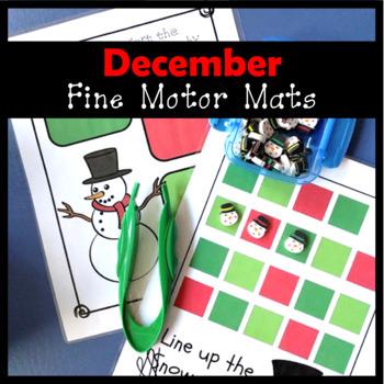 December Fine Motor Mats