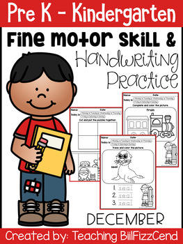 December Fine Motor Skill and Handwriting Practice