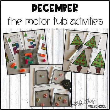 December Fine Motor Tub Activities