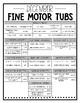 December Fine Motor Tubs