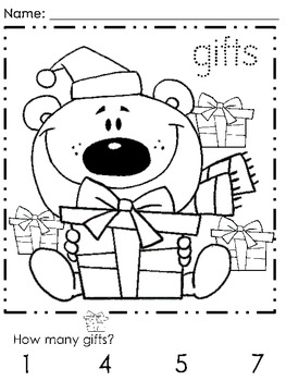 First Grade - December Coloring Pages