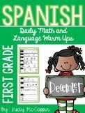 December First Grade Morning Work in Spanish