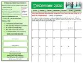December Fitness Calendar 2017