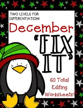 """December """"Fix It"""" Editing Work! Two Levels!"""