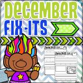 December Fix-It Sentences With Powerpoint