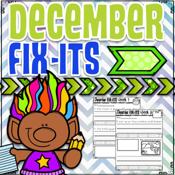 December Fix-It Sentences With Powerpoint
