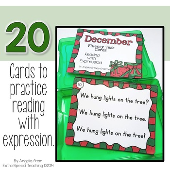 December Fluency Practice Task Cards