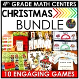 Christmas Fourth Grade Math Centers BUNDLE