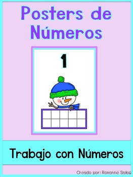 December Freebie Number Posters (Spanish)