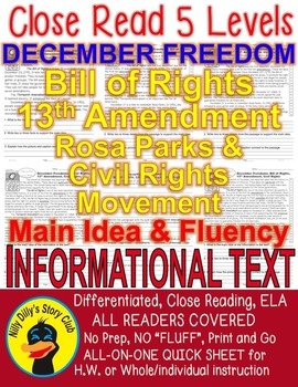 December Freedom: Bill of Rights 13th Amendment Civil Righ