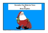 December Fun Behavior Note Freebie