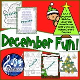 December Fun K-1 Hidden Picture Puzzles, Differentiated Writing & Math, Rap Poem