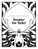 December / Christmas Printable Activities Fun Pack