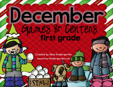 December Games and Centers {first grade}