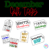 December Gift Tags