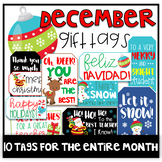 December Gift Tags (Gift Tags for Teachers & Students)