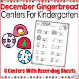December Gingerbread Math and Literacy Themed Centers for