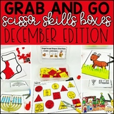 December Grab and Go Scissor Skills Activities