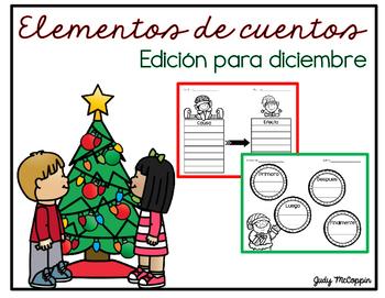 December Graphic Organizers in Spanish