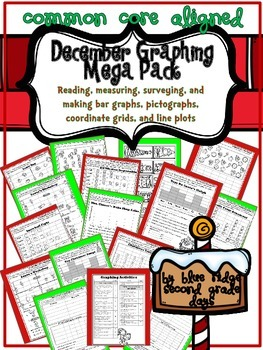 December Graphing Mega Pack - Reading, Measuring & Making Graphs