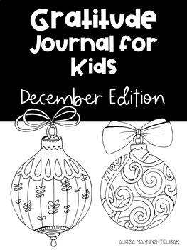 December Gratitude Journal for Kids