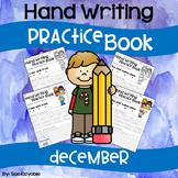 December Hand Writing Practice Book