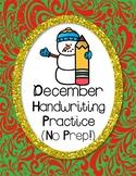 December Handwriting Kit (No Prep!)