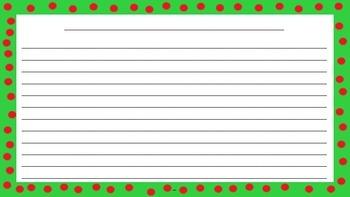 December Handwriting Paper