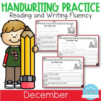 December Handwriting Practice