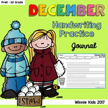 December Handwriting Practice Journal