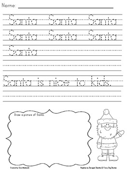 December Handwriting Practice Packet