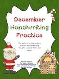 December Handwriting Practice Packet