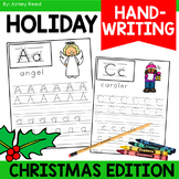 December Handwriting Practice and Alphabet Cards | Christmas