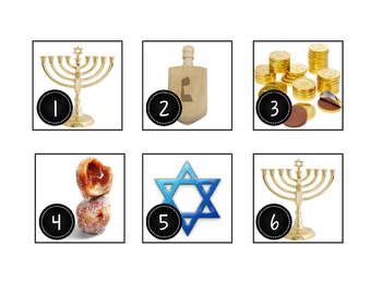 December Hanukkah Calendar Cards-Real Photos