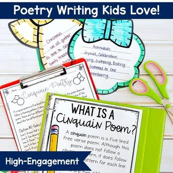 December Holiday Cinquain Poetry Bulletin Board