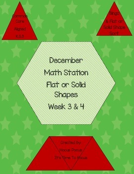 Flat or Solid Math Station Week 3 & 4 K.G.2