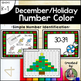 December Holiday Number Color (Number Recognition and Identification)