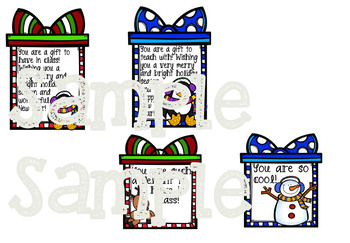 December Holiday Gift Tags