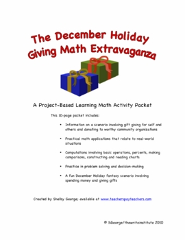 December Holiday Giving Math Extravaganza Project