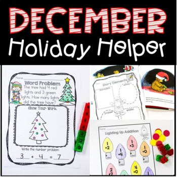 December Holiday Helper For Kindergarten Just Print, No Prep Unit!