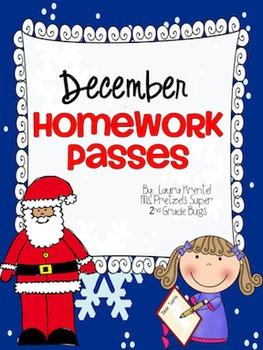December Holiday Homework Passes