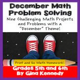 December Math Problem Solving Projects for Upper Elementary Students
