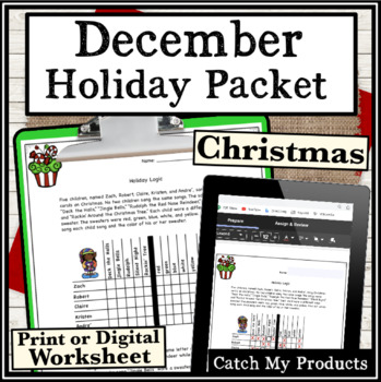 Christmas Activities : December Holiday Packet for Gifted & Talented Students